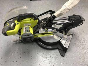 Ryobi TSS120l 12 15 amp sliding miter saw with laser