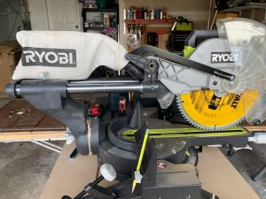 Ryobi 12 in sliding compound miter saw with laser