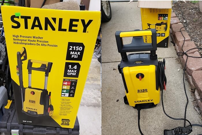 Stanley SHP2150 PSI 2150, 1.4 GPM Electric Pressure Washer