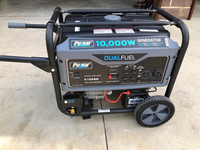 Pulsar G10KBN 10,000 Watt Portable Dual-Fuel Generator